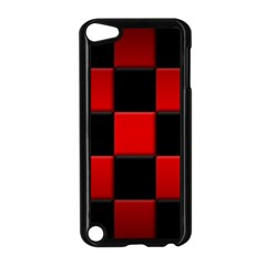 Black And Red Backgrounds Apple Ipod Touch 5 Case (black)