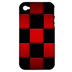 Black And Red Backgrounds Apple Iphone 4/4s Hardshell Case (pc+silicone)