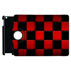 Black And Red Backgrounds Apple Ipad 3/4 Flip 360 Case
