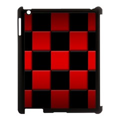 Black And Red Backgrounds Apple iPad 3/4 Case (Black)