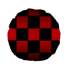 Black And Red Backgrounds Standard 15  Premium Round Cushions