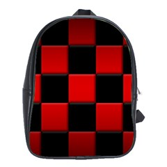 Black And Red Backgrounds School Bags (xl)