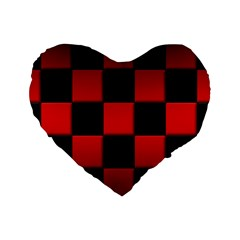Black And Red Backgrounds Standard 16  Premium Heart Shape Cushions