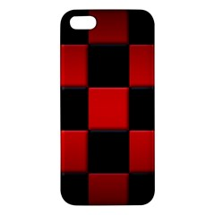 Black And Red Backgrounds Apple Iphone 5 Premium Hardshell Case
