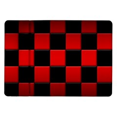 Black And Red Backgrounds Samsung Galaxy Tab 10 1  P7500 Flip Case