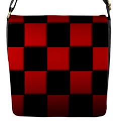 Black And Red Backgrounds Flap Messenger Bag (s)