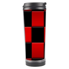 Black And Red Backgrounds Travel Tumbler