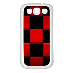 Black And Red Backgrounds Samsung Galaxy S3 Back Case (white)