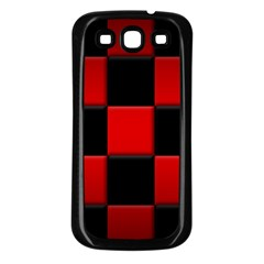 Black And Red Backgrounds Samsung Galaxy S3 Back Case (black)