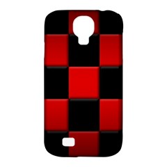 Black And Red Backgrounds Samsung Galaxy S4 Classic Hardshell Case (pc+silicone)