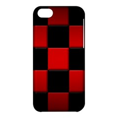 Black And Red Backgrounds Apple Iphone 5c Hardshell Case