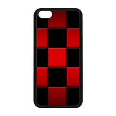 Black And Red Backgrounds Apple Iphone 5c Seamless Case (black)