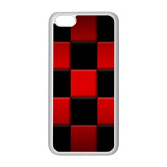 Black And Red Backgrounds Apple Iphone 5c Seamless Case (white)