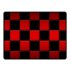 Black And Red Backgrounds Double Sided Fleece Blanket (small)