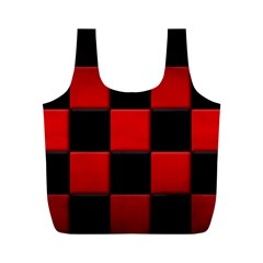 Black And Red Backgrounds Full Print Recycle Bags (m)