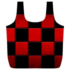 Black And Red Backgrounds Full Print Recycle Bags (l)