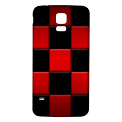 Black And Red Backgrounds Samsung Galaxy S5 Back Case (white)