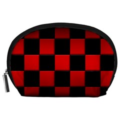 Black And Red Backgrounds Accessory Pouches (large)