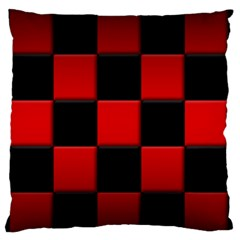 Black And Red Backgrounds Large Flano Cushion Case (one Side)