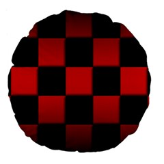 Black And Red Backgrounds Large 18  Premium Flano Round Cushions