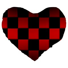 Black And Red Backgrounds Large 19  Premium Flano Heart Shape Cushions