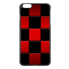 Black And Red Backgrounds Apple Iphone 6 Plus/6s Plus Black Enamel Case