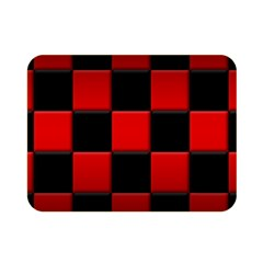 Black And Red Backgrounds Double Sided Flano Blanket (mini)