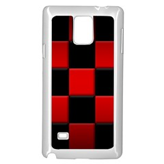Black And Red Backgrounds Samsung Galaxy Note 4 Case (white)