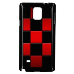 Black And Red Backgrounds Samsung Galaxy Note 4 Case (black)