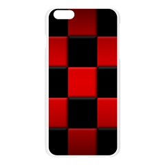 Black And Red Backgrounds Apple Seamless iPhone 6 Plus/6S Plus Case (Transparent)