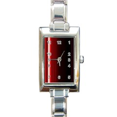 Black And Red Rectangle Italian Charm Watch