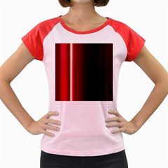 Black And Red Women s Cap Sleeve T Shirt