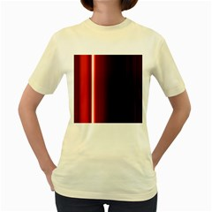 Black And Red Women s Yellow T Shirt