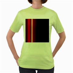 Black And Red Women s Green T Shirt