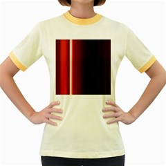 Black And Red Women s Fitted Ringer T-Shirts