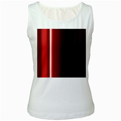 Black And Red Women s White Tank Top