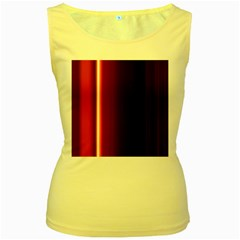 Black And Red Women s Yellow Tank Top