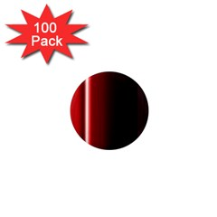 Black And Red 1  Mini Magnets (100 Pack)