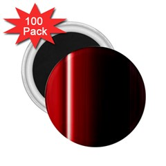 Black And Red 2 25  Magnets (100 Pack)