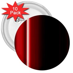 Black And Red 3  Buttons (10 pack)