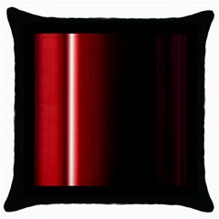 Black And Red Throw Pillow Case (Black)