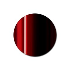 Black And Red Rubber Round Coaster (4 Pack)