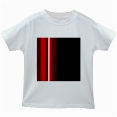 Black And Red Kids White T Shirts