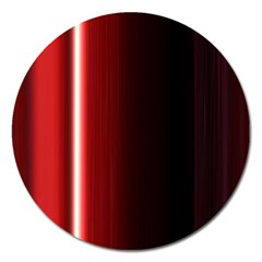 Black And Red Magnet 5  (Round)