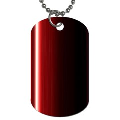 Black And Red Dog Tag (One Side)