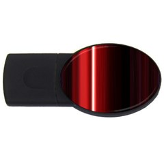 Black And Red USB Flash Drive Oval (1 GB)