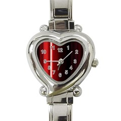 Black And Red Heart Italian Charm Watch