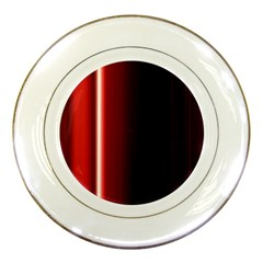 Black And Red Porcelain Plates