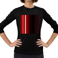Black And Red Women s Long Sleeve Dark T-Shirts