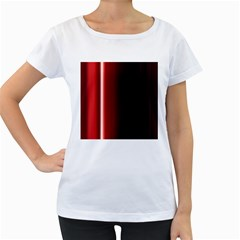 Black And Red Women s Loose Fit T Shirt (white)